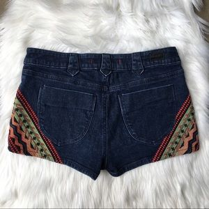 BDG Urban Outfitters Embroidered Denim Jean Shorts